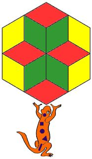 Tessellations in geometry - great site for tessellations and other geometry topics such as symmetry, angles, 2D and 3D shapes
