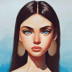 Girly Drawings, Cool Art Drawings, Art Sketches, Digital Art Girl, Digital Portrait, Portrait Art, Cute Art Styles, Cartoon Art Styles, Drawn Art