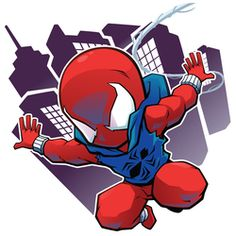 FA Scarlet Spider by on DeviantArt Chibi Superhero, Chibi Marvel, Marvel Art, Marvel Heroes, Drawing Cartoon Characters, Chibi Characters, Marvel Characters, Avengers Cartoon, Marvel Cartoons