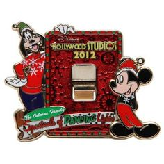 Disney Pin 2012 | Disney Osborne Lights Pin - 2012 Mickey & Goofy