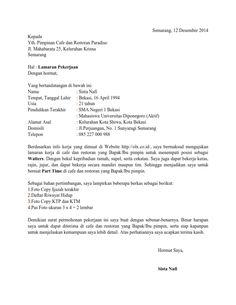 Surat Lamaran Kerja Informasi Dari Teman | ben jobs