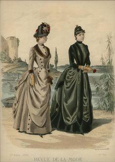 ORIGINAL REVUE DE LA MODE Sept 12,1886