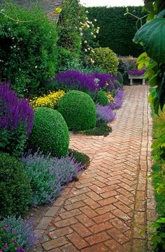 beautiful border - herringbone walkway