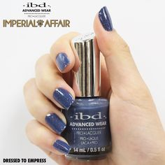 Your clients will look like royalty with Dressed to Empress, an elegant blue-gray with golden sparkle from the Imperial Affair collection. Dressed to Empress is available in the Advanced Wear Formula, Just Gel Polish and IT'S A MATCH. Jewel Tones, Fall 2016, Gel Polish, Affair, Nail Designs, Royalty, Sparkle, Jewels, Gray