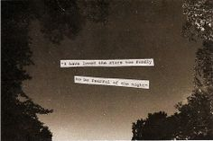 i'm not fearful of the night
