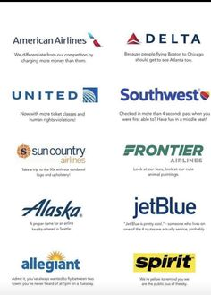 If every airline in the US had an honest slogan - Funny, Humor, LOL, Pics Aviation Technology, Aviation Humor, Aviation Fuel, Airline Humor, Airline Tickets, Pilot Humor, People Fly, Airline Reservations, Flight Attendant Life