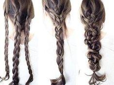 Nette unordentliche Updos für langes Haar
