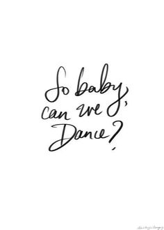 Let's dance...