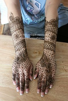 Naziefeh's bridal henna 2010 © NJ's Unique Henna Art | Flickr - Photo Sharing!