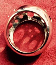 Anello fascione bombato realizzato a mano in Argento 925