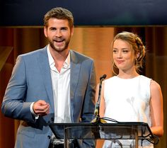 Paranoia costars Liam Hemsworth and Amber Heard spoke at the Hollywood Foreign Press Association's Aug. 13 luncheon at the Beverly Hilton in Beverly Hills.