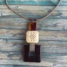 Jasper and sterling silver necklace ref.10309-3 tribal style by carlaamaro on Etsy