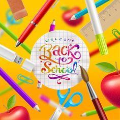 Classic school background creatime vector 05