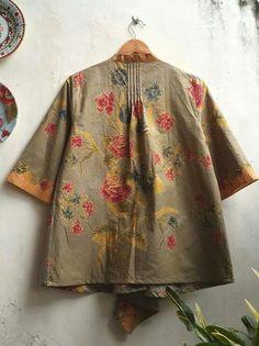 Back Detail Batik Blouse