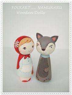 Wood Peg Dolls, Clothespin Dolls, Wood Toys, Kokeshi Dolls, Matryoshka Doll, Wooden Pegs, Little Doll, Fairy Dolls, Doll Crafts