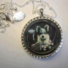 Creating a dog memorial locket, using a photo in an Origami Owl locket with charms. SparkleWithJennifer.OrigamiOwl.com
