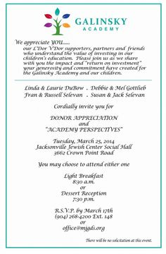 donor appreciation invitations | just b.CAUSE