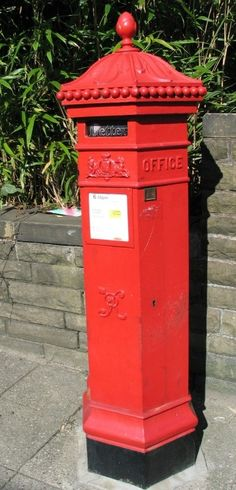 Victorian Postbox, Ramsbottom Post Boxes Uk, Christmas Grotto Ideas, Letter Boxes, Tea Houses, Mail Boxes, Box Uk, Red Bus, Edwardian Era, London Calling