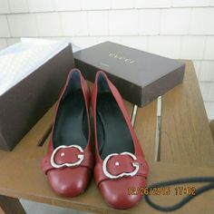 Authentic Gucci low heel pumps. Size 7 New in box. Authentic Gucci. In perfect new condition. Gucci Shoes