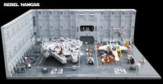 LEGO Star Wars Rebel Hangar 01 | A Rebel Hangar inspired by … | Flickr