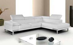 Nicola Leather Sectional Sofa