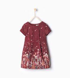 Printed jacquard dress from Zara Little Girl Fashion, Kids Fashion, Girls Dresses, Summer Dresses, Formal Dresses, Winter Outfits, Kids Outfits, Moda Kids, Jacquard Dress