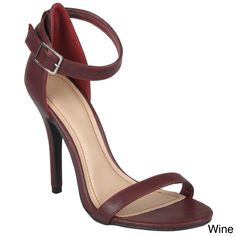 embrace classy style in these open toe stilettos by journee collection