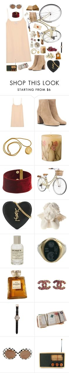"""letters to juliet"" by pixiekeen ❤ liked on Polyvore featuring Raey, Yves Saint Laurent, Rosy Rings, Ash, Le Labo, Kieselstein-Cord, Chanel, Shinola and Areaware"