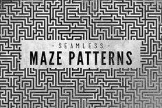 Maze Patterns by Design Spoon on @creativemarket