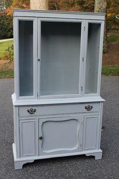 Classic Grey China Cabinet DIY