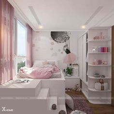 Luxurious Girls Bedroom Design, Furnishings And Concepts Creating your room design is one factor that may be each thrilling and draining. All individuals ha Cute Bedroom Ideas, Cute Room Decor, Girl Bedroom Designs, Teen Room Decor, Trendy Bedroom, Girls Bedroom, Bedroom Decor, Bedroom Inspiration, Colour Inspiration