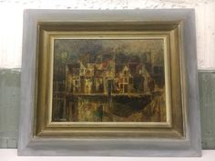 Si Lewen Original Oil Painting with Frame 15x20 - Signed by Artist