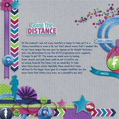 Disney runDisney Scrapbook Page Layout by Gill using Run Like the Wind kit by Capturing Magical Memories #DisneyMemories #DisneyScrapbooking