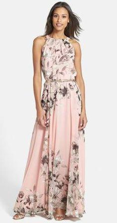 vestido longo floral madrinha casamento dia
