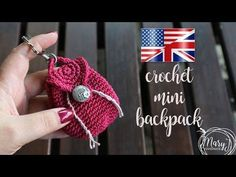 Crochet Miniature Backpack | MARYJ HANDMADE - YouTube