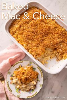 This rich and creamy baked mac and cheese with a crunchy, buttery breadcrumb topping from Preppy Kitchen is a decadent treat that takes comfort food to the next level! It's easy to make and the perfect side dish for the holidays, or anytime you're looking to please everyone at the table. #macandcheese #bestmacandcheese #bakedmacandcheese Yummy Pasta Recipes, Best Dinner Recipes, Side Recipes, Cooking Recipes, Cheese Recipes, Dessert Recipes, Cold Pasta Dishes, Traditional Easter Desserts, Crazy Kitchen
