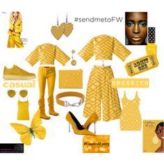 Send me to fashion week - Gold Geometric Designs #culottes