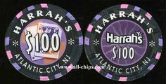 #AtlanticCityCasinoChip of the day is a $100 harrahs 3rd issue you can get here in Rare AU condition https://www.all-chips.com/ChipDetail.php?ChipID=7726 #CasinoChip #Harrahs