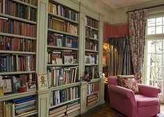 Brigette Buchanan's Cotswold country home - bookcases