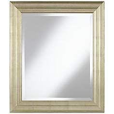 30 x 40 mirror. Helston Antique Silver 26\ 30 X 40 Mirror