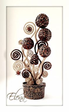 Фотография Wire Crafts, Fun Crafts, Coffee Crafts, Boho, Coffee Beans, Twine, Paper Flowers, Place Card Holders, Diy Projects