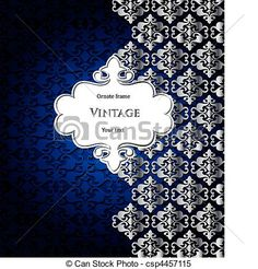 Template silver frame design for greeting card - csp4457115