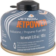 Jetboil Jetpower 100 Isobutane/Propane Fuel Canister - Mountain Equipment Co-op (MEC). Free Shipping Available.