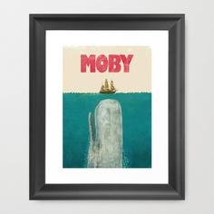 Moby  Framed Art Print by Terry Fan - $35.00