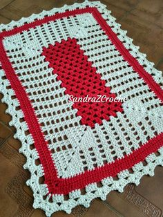 Large green red inches-christmas doily-crochet doily-christmas decor-gift for christmas-gre Christmas Crochet Patterns, Crochet Doily Patterns, Crochet Doilies, Crochet Stitches, Baby Blanket Crochet, Crochet Baby, Free Crochet, Crochet Carpet, Crochet Instructions