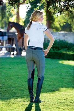 These breeches are likely to become your best friend from the second you put them on. They're light, forgiving, and soo nice as well as the fact they come in a few different colors. Once you get one, you're going to literally want to collect them all! 'Romfh International Denim Knee Patch Breeches' #breeches #romfhbreeches #equestrian #stylemyride