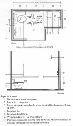 Handicap Toilet, Handicap Bathroom, Bathroom Layout Plans, Bathroom Floor Plans, Ada Bathroom, Bathroom Images, Bathrooms, Data Architecture, Architecture Details