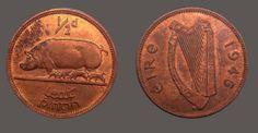 1946 Ireland halfpenny uncirculated Irish coin