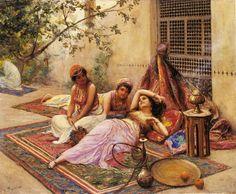 https://onokart.wordpress.com/2010/10/12/harem-life-i/Fabio Fabi 1861-1946-girl of the harem