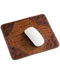 Tooled Leather Mouse Pad